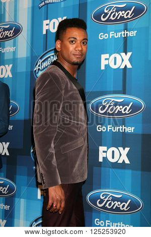 LOS ANGELES - APR 7:  Joshua Ledet at the American Idol FINALE Arrivals at the Dolby Theater on April 7, 2016 in Los Angeles, CA