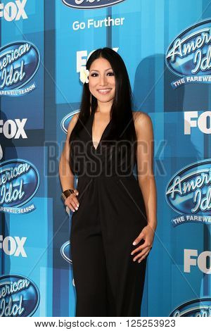 LOS ANGELES - APR 7:  Jasmine Trias at the American Idol FINALE Arrivals at the Dolby Theater on April 7, 2016 in Los Angeles, CA