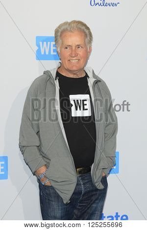 LOS ANGELES - APR 7:  Martin Sheen at the WE Day California 2016 at the The Forum on April 7, 2016 in Inglewood, CA