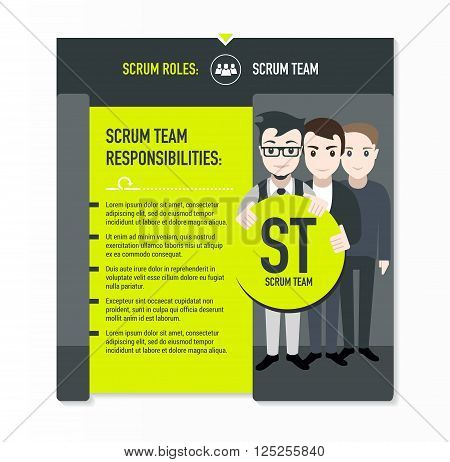 Scrum roles - Scrum team responsibilities template in scrum development process