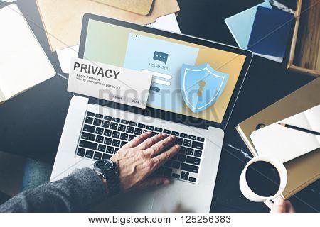 Privacy Confidential Protection Security Solitude Concept