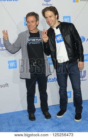 LOS ANGELES - APR 7:  Tom Wilson, Craig Kielburger at the WE Day California 2016 at the The Forum on April 7, 2016 in Inglewood, CA