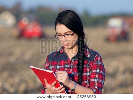 Farmer Woman On Field