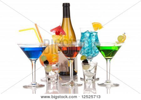 Most Popular Alcoholic Cocktails Drink Composition