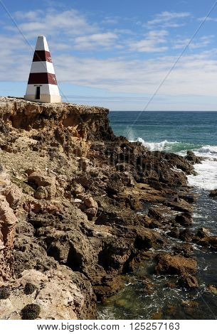 Situated in Robe at Cape Dombey, South Australia. Built in 1852 given the coasts notoriety for ship wrecks the Obelisk was used to store rockets which were fired to distressed ships. The rockets carried lifelines and baskets for bringing passengers ashore