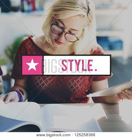 Style Class Character Chic Trends Elegant Hipster Concept