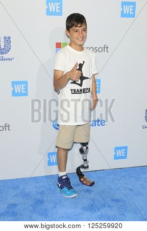 LOS ANGELES - APR 7:  Ezra Frech at the WE Day California 2016 at the The Forum on April 7, 2016 in Inglewood, CA
