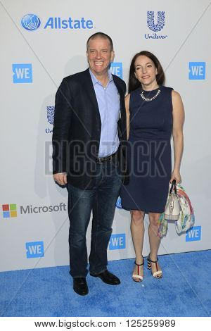 LOS ANGELES - APR 7:  Jonathan Atwood, Kathleen Dunlop at the WE Day California 2016 at the The Forum on April 7, 2016 in Inglewood, CA