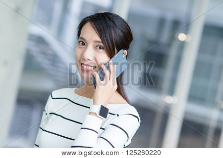 Woman chat on mobile phone