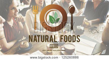 Natural Foods Eat Well Good Conservation Diner Concept