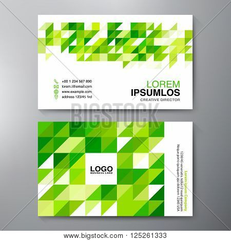 Modern Business card Design Template. Vector and illustration