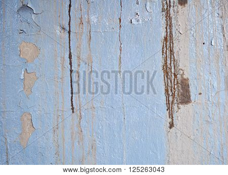Texture of Dirty Wall with Peeling Old Oil Paint