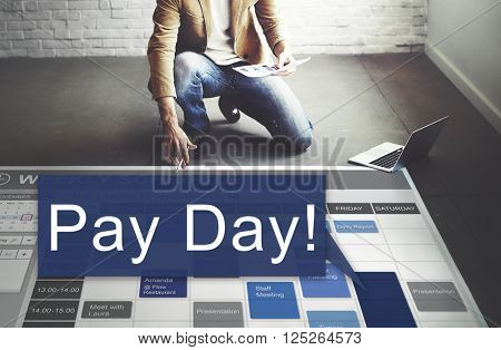 Pay Day Economy Salary Money Budget Concept