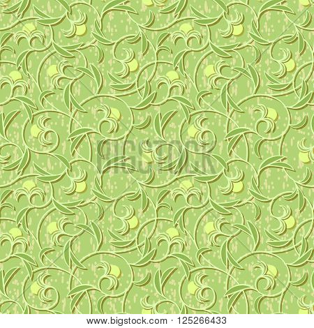 vector abstract flowers floral light green seamless background