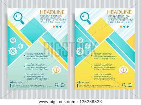 Lupe Symbol On Vector Brochure Flyer Design Layout Template