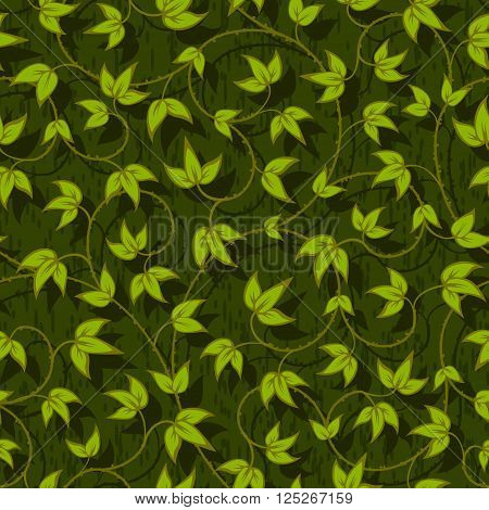 floral liana leaves abstract seamless background texture pattern