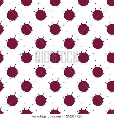 Wine blots seamless pattern on white background