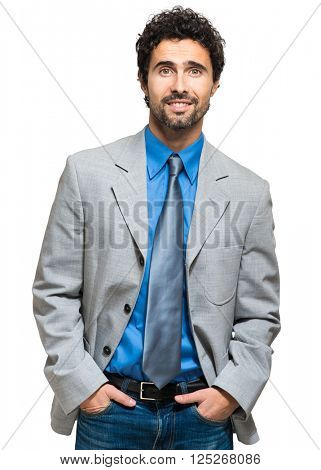 Confident male manager