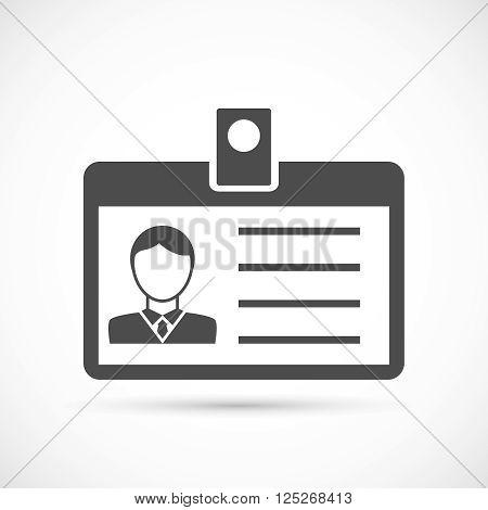 Identification card for man icon. Identification card illustration