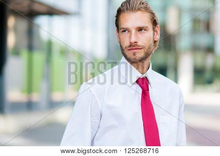 Nordic blond businessman portrait