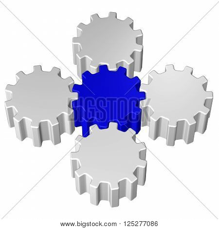 Concept: Leadership, isolated on white background. 3D rendering.