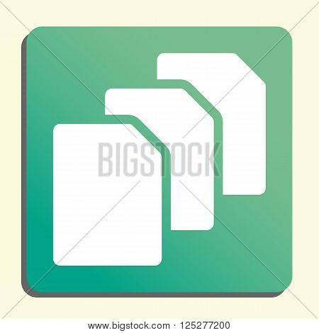 File Icon In Vector Format. Premium Quality File. Web Graphic File Sign On Green Light Background.