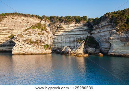 Bay Of Bonifacio, Coastal Rocks. Corsica
