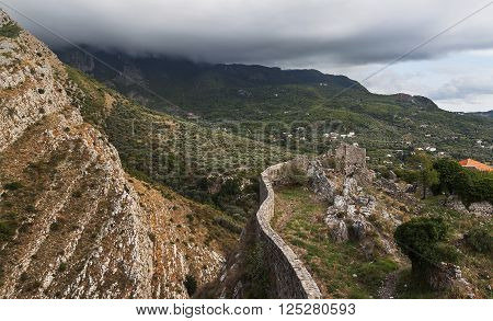 The Aqueduct in Bar Old Town - Montenegro - nature and architecture background