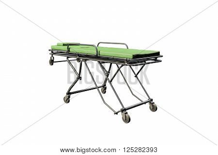3d illustration of a emergency stretcher isolated on white background