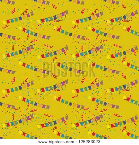 Pattern for seamless background flags and tinsel.
