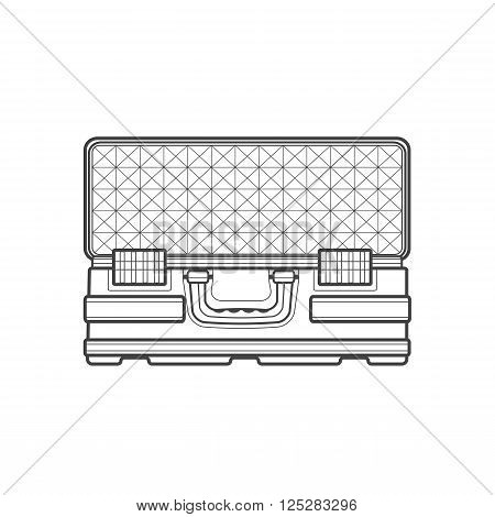 Vector Outline Protection Case Illustration.