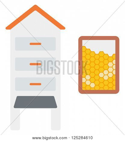 Beehive and honeycomb.