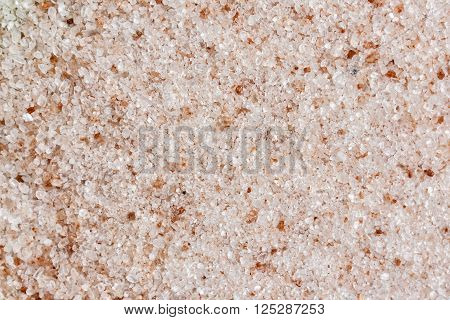 Ground Himalayan salt back ground texture pattern