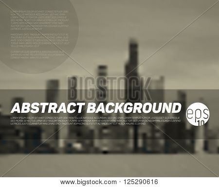Vector abstract blurred city background with place for your text - brown version