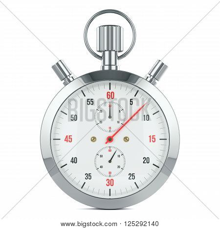 Stopwatch timer contdown. Isolated on white background 3d