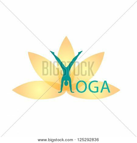 Yoga Fitness yoga logo fitness and sport club lotus logo vector logo template