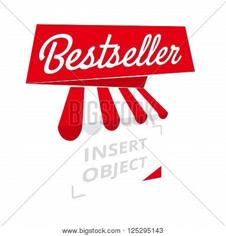 Bestseller - red ribbon banner trades or sales element vector template