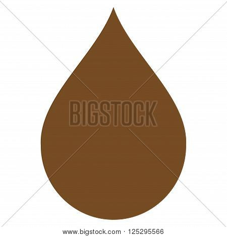 Drop vector icon. Drop icon symbol. Drop icon image. Drop icon picture. Drop pictogram. Flat brown drop icon. Isolated drop icon graphic. Drop icon illustration.