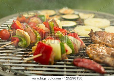 Shashliks On The Grill