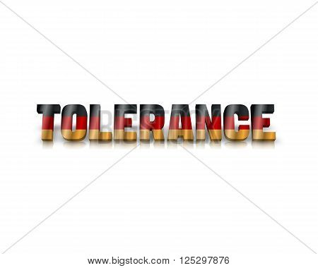 Tolerance - 3d word with reflection !