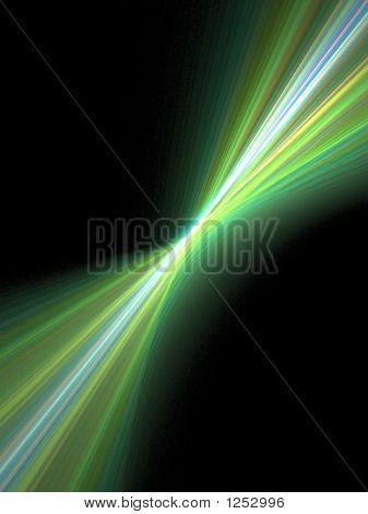 Green Light Rays - Abstract Background