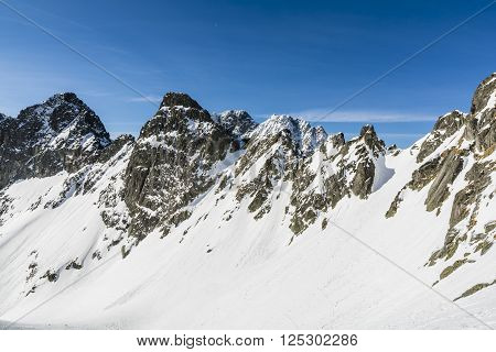 Winter Mountains Of The Tatras.