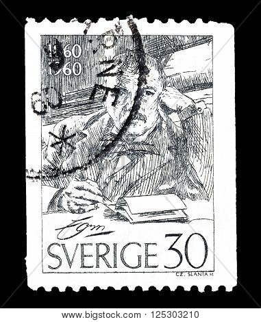 SWEDEN - CIRCA 1960 : Cancelled postage stamp printed by Sweden, that shows Zorn Anders.