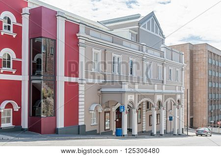 PORT ELIZABETH SOUTH AFRICA - FEBRUARY 27 2016: Part of the Opera House and Barn Theatre. The original section was opened in 1892 and is a proclaimed national monument