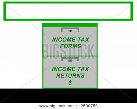 Income Tax Business Sign