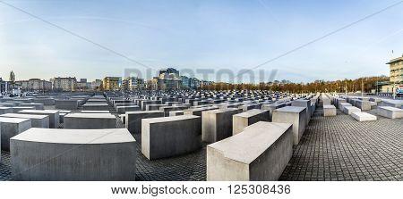 Berlin, Germany - Nov 17, 2014: View Of Jewish Holocaust Memorial, Berlin, Germany