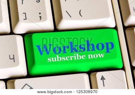 Workshop ,subscribe Now  Green Button