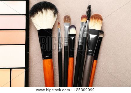 Decorative cosmetics and accessories for makeup, close-up
