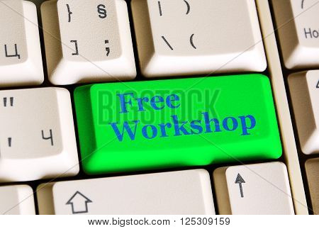 Free  Workshop Green Button