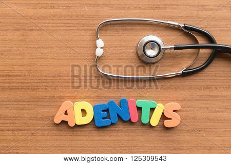 Adenitis Medical Word